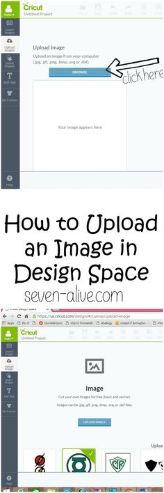 How to Upload in Image in Design Space