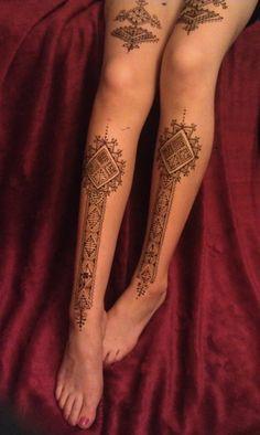 maroccan leg henna tattoos egodesigns