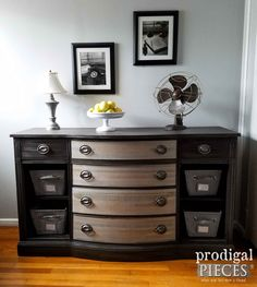 Vintage Buffet Gets Modern Chic Makeover by Teenage Boy | Prodigal Pieces | www.prodigalpieces.com