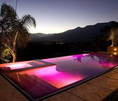 Very nice over the edge pool