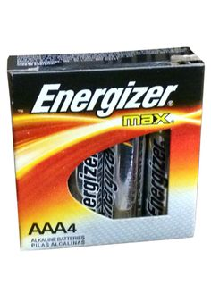 Energizer Max AAA Alkaline Batteries 4 Ct #buythecase #Energizer #Electronics