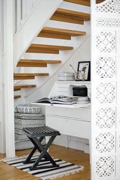 adore under the stairs nooks ~ hoping for one of my own to read & write & sip coffee in someday