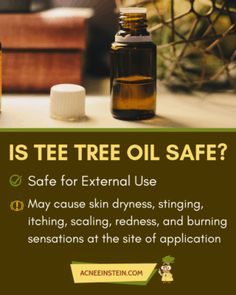 Thinking of using essential oils for acne, but you don't know which oil to pick or if they are safe to use? Find out what science has to say! Tea Tree Essential Oil, Best Essential Oils, Home Remedies For Acne, Natural Remedies, Tee Tree Oil, Tea Tree Oil For Acne, Bad Acne, Acne Makeup