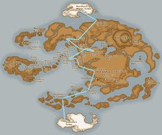 Map of the Gaang's travels in the first Season, pretty chill and straightforward.