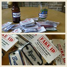 Fake IDs... Beverage Identification Accessory by Studio11Online