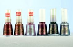 Revlon Color Illusions-Crimson Sparkle, Cocoa Shimmer, Lilac Beam, Plum Flip, Steel Magic and Silver Switch