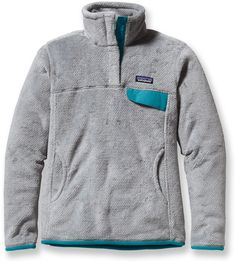 Patagonia Re-Tool Snap-T Fleece Pullover - Women's REI Size Small. I would take one in the grey with the teal trim (From REI) or the Tumble Green (From Backcountry).