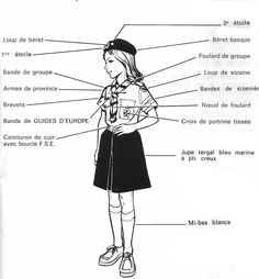FSE Girl Scout uniform- current. Very traditional compared
