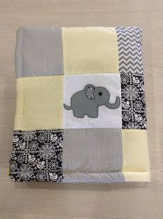 Beautiful baby modern patchwork cot quilt