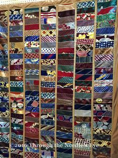 Crazy quilt made with neckties: Telling Stories Through the Needle's Eye