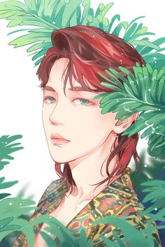 "Fan art of Byun Baek-hyun (변백현)  of EXO (엑소) from their ""Ko Ko Bop"" comeback. 