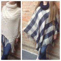 Need a gift for a stylish lady in your life this holiday season? Find super comfy, trendy ponchos at Art Mart Gifts! #ponchos #accessories #accessorize #apparel #patterns #plaid #blockpattern #solids #colors #giftidea giftsforher #giftsforwomen #HappyHolidays #comfy #cozy #style #fashion #GiftSuggestion