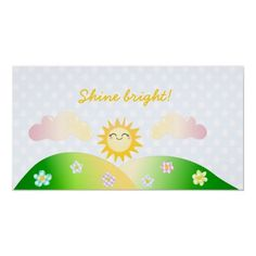 Cute sun kawaii cartoon posters