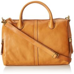 Fossil Erin Satchel Top Handle Bag,Tan,One Size