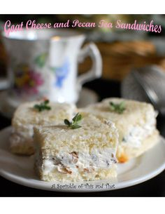 Celebrate Mother's Day with a tea and include these savory Goat Cheese and Pecan tea sandwiches.