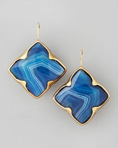 JACKIE BLUE NEIMAN AND MARCUS DESIGNER JEWELRY | stephen dweck blue agate clover drop earrings available in blue $ 395 ...
