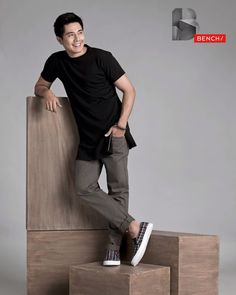 Paulo Avelino for Bench (ctto) Paulo Avelino, Half Filipino, Baguio City, Star Magic, Actors & Actresses, Fashion Models, Eye Candy, Abs, Normcore