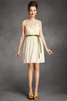 Origami Pleated Dress - Cream