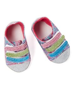 Love this Rainbow Glitter Low-Top Sneakers for 18'' Doll on #zulily! #zulilyfinds