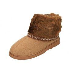 e90e6c696d0c Dr Keller Brown Warm Faux Fur Lined Slipper Ankle Boots - Dr Keller from  Jenny-Wren Footwear UK