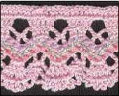 59 Free Crochet Patterns for Edgings, Trims, and Blanket Borders: 21. Rick Rack Lace Edging