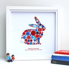 Personalised Rabbit Thank You Button Artwork