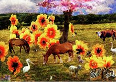 Fantasy Greeting Card featuring the photograph Fantasy Farm by Judi Saunders