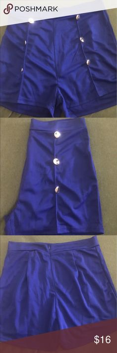 Nwot high waisted ladies sailor shorts Really cute sailor shorts with zipper in back Notations Shorts