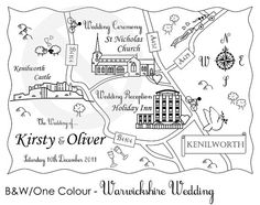 Custom Map  Cute Wedding Map We're Moving or Party Map by cutemaps, $125.00