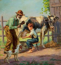 by genre illustrator Henry Hintermeister (American, 1897 – 1972)