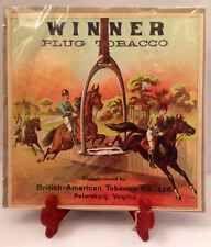 Vintage Tobacco Sign Label: Winner Plug Tobacco Tobacciana Cigars Pipes Richmond