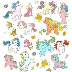 vintage 80s'my little pony puffy sticker - Google Search