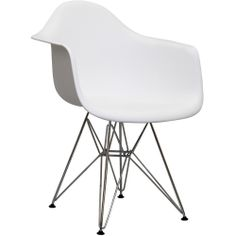 $85.03 Paris Wire White Arm Chair | Overstock.com Shopping - Great Deals on Modway Dining Chairs