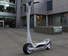 This CT-S electric scooter is sleek and will charge in the trunk of your car   Ubergizmo: