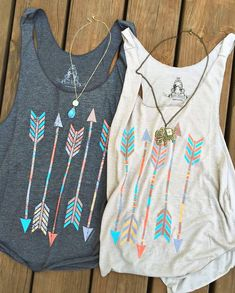 Buy Bestfriends Shirts Women Casual Arrow Head Print Vintage Multicolor Tank Tops Cotton T-shirt Sleeveless Grey/White at Wish - Shopping Made Fun Summer Outfits, Casual Outfits, Cute Outfits, Outdoor Girl, Look Fashion, Womens Fashion, Look Boho, Mein Style, Elegantes Outfit