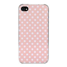 Coque iPhone 4/4S Rose à pois blanc par The Phone Dressing Coque Iphone 4, Couleur Rose Pale, Dressing, Phone Cases, White People