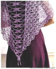 Crochet Dragonfly Shawl Pattern -- I've always loved this design by Kristin Omdahl -- with diagram