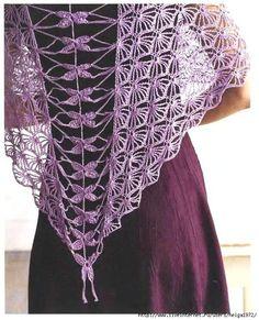 Crochet Dragonfly Shawl Pattern by Kristin Omdahl -- with diagram