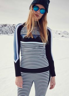 It's all about the baselayer. Channel ultimate ski chic in cosy printed separates.
