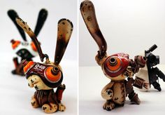 Michihiro Matsuoka channels mechanical brass animals in his own Asian steampunk way
