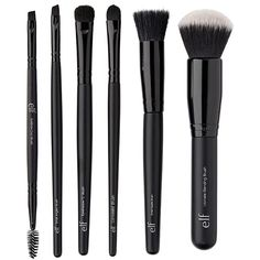 Shop makeup brush sets at ULTA. Find a variety of brush sets to help you achieve the best makeup application. Make Makeup, Elf Makeup, Makeup Brush Set, Makeup Kit, Makeup Dupes, Makeup Stuff, Makeup Remover, Bobbi Brown, Makeup Products