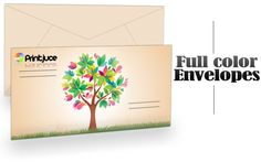 Envelope Printing, good marketing tool. Envelopes are printed in full color using premium 70# uncoated paper, use our custom envelope template for best results.