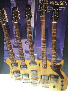 Rick Neilsen's 5-necked Guitar (sick how do you hold much less play?)