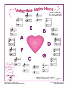 Valentine Note Hunt by Susan Paradis' Piano Teacher Resources Piano Lessons, Music Lessons, Music Education Activities, Teacher Resources, Valentine Music, Valentines, Piano Teaching, Teaching Aids, Music Theory Worksheets