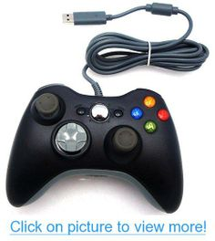 Wired USB Controller for PC $ Xbox 360 (Black)