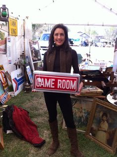 Light up game room sign by RetrieversAntiques on Etsy, $75.00