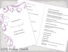 Catholic Wedding Program Templates For Microsoft Word You Can Use