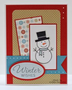 Hello and welcome to the first Cards in Envy challenge of 2014. The theme is to create a card with a snowman on it. And I'm sure lots of y...