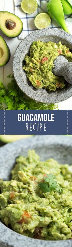 Homemade guacamole is better than store-bought and is made in less than 10 minutes! This classic recipe is made with avocados, onions, tomatoes, lime juice and cilantro.