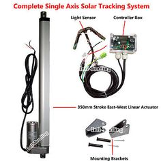 "Solar Tracker Tracking Single Axis Complete Kit-14"" Linear Actuator & Controller - http://home-garden.goshoppins.com/home-improvement/solar-tracker-tracking-single-axis-complete-kit-14-linear-actuator-controller/"
